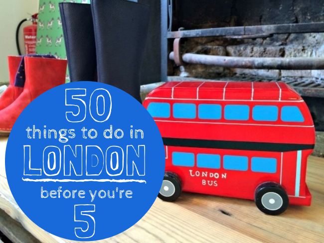 50 fun things to do with an under 5 in London