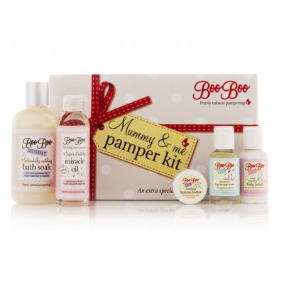 Boo Boo Mummy and Me Pamper Kit, gift for new mums, gift for babies