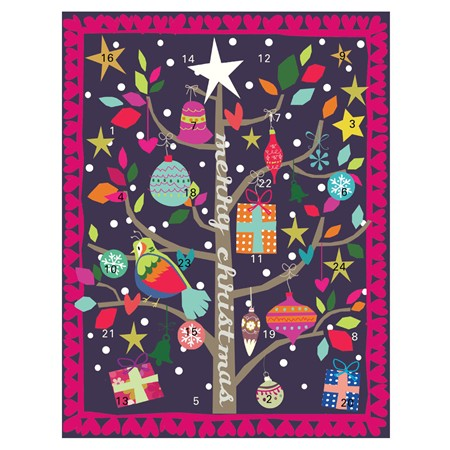 Caroline Gardener advent calendar, chocolate-free advent calendar, non-chocolate advent calendar