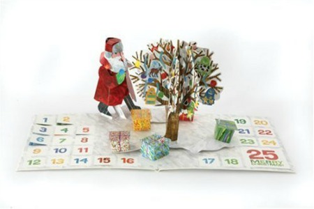 Eric Carle pop-up calendar, chocolate-free advent calendar, non-chocolate advent calendar
