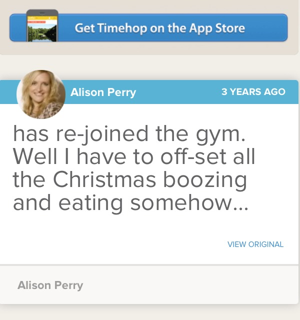 timehop, new app, what was I doing a year ago?