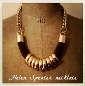 Helen Spencer, jewellery, statement necklace, Cherry Healey, fashion