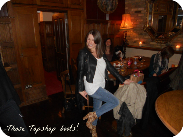 Topshop leopard print boots, new mum style tips, Abbie Pethullis