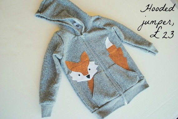 Fox jumper, Fearne cotton, Etsy