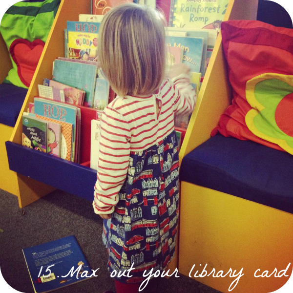 toddler, library, 30 things to do before you're 3