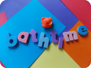Bathtime foam letters and rubber duck