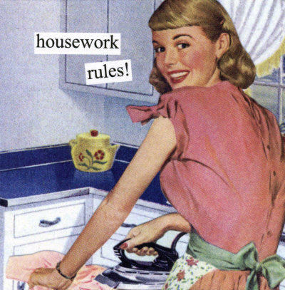 Housewife and stay at home mum in 1950s