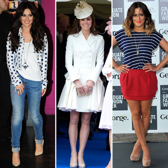 Cheryl Cole, KAte Middleton and Caroline Flack wear nude heels