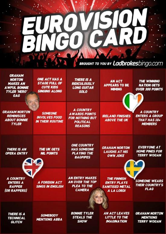 Eurovision 2103 Bingo Card