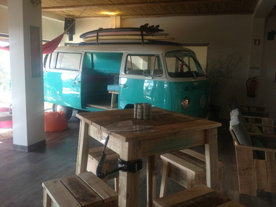 Martinhal Beach Resort camper van in bar