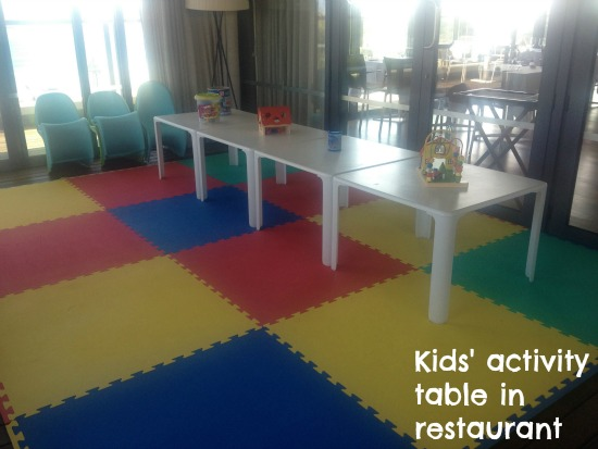 Martinhal Beach Resort restaurant is great for kids