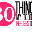 30 Things My Toddler Refuses To Do