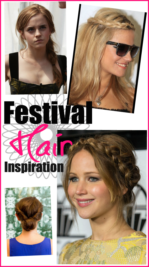 Camp Bestival hair - twists and plaits