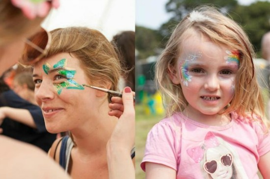 Facepainting at Camp Bestival