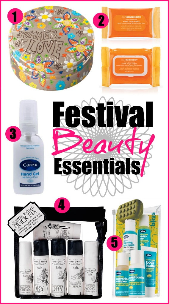 Festival beauty essentials 2013