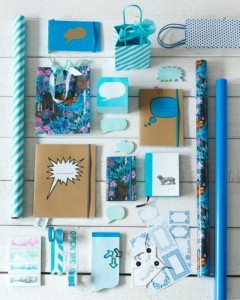 blue Ikea stationary