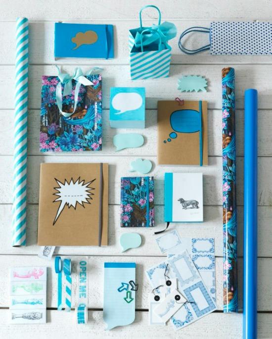 blue Ikea stationary