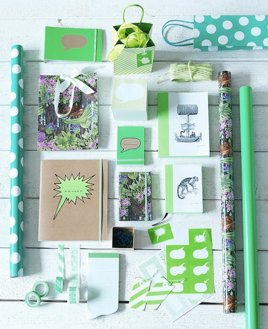 Green Ikea stationary