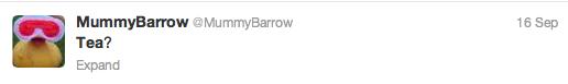 Mummy Barrow tweet