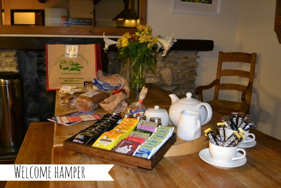 Welsh food hamper at Clydey Cottages, Pembrokeshire