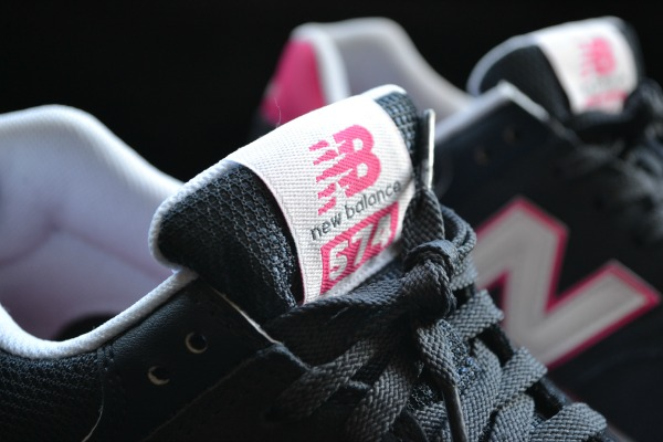 Navy and pink New Balance Trainers
