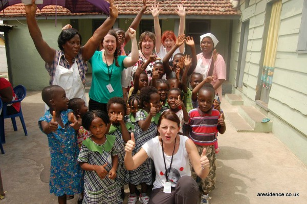 Team Honk in Ghana with Davina McCall