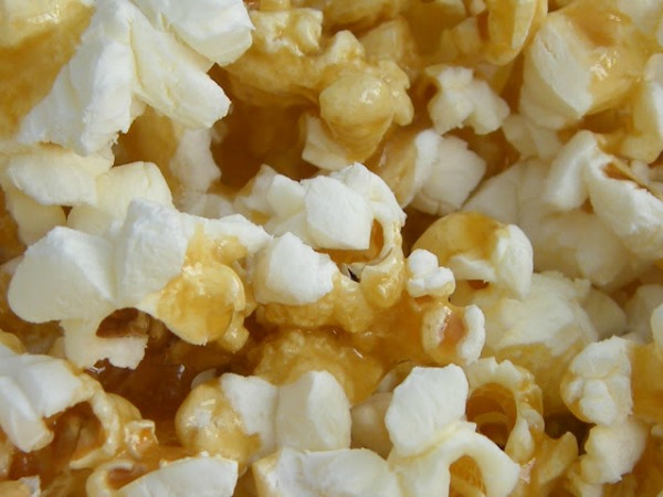 Toffee Popcorn Recipe from blogger Tinned Tomatoes