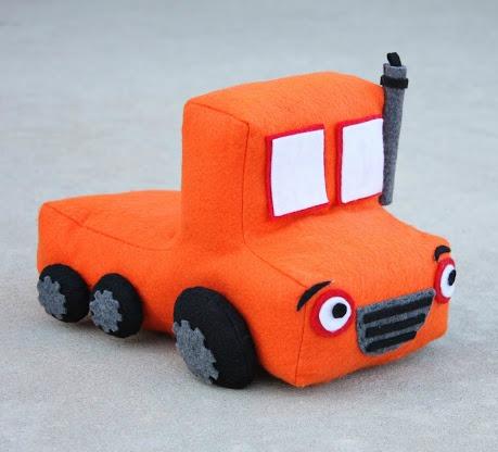 Make a felt toy truck