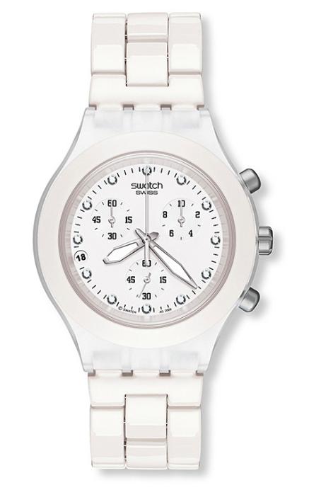 White Swatch watch - nice, isn't it?