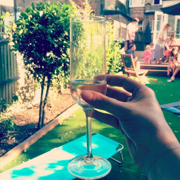 Cheers! Prosecco at BBQ
