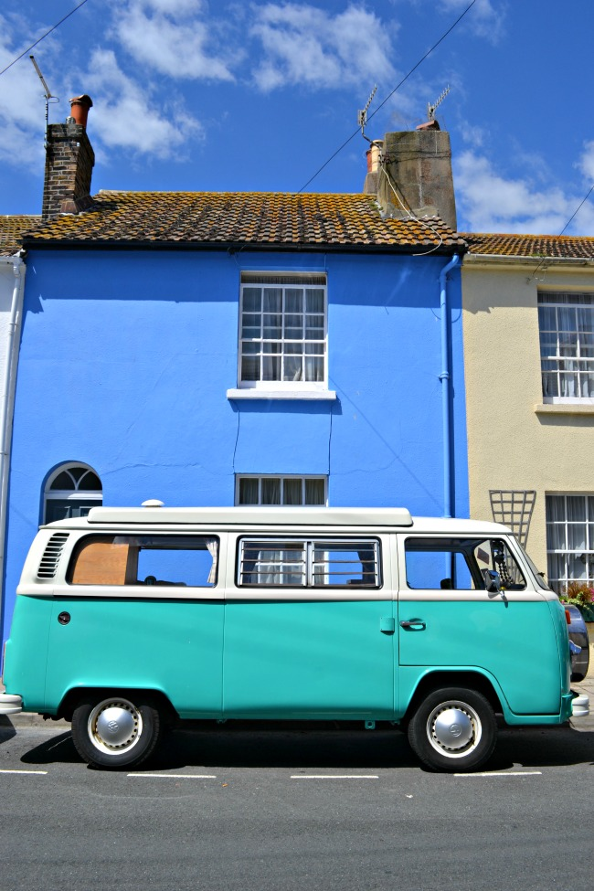 Campervan on Brighton street