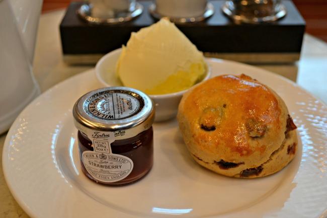 Cream Tea at the Caledonian Hotel, Edinburgh