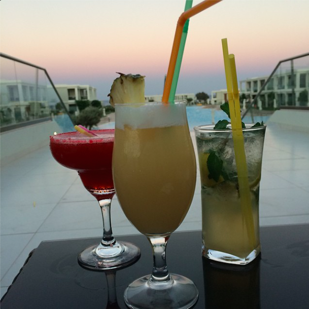 Cocktails at Levante Beach, Rhodes