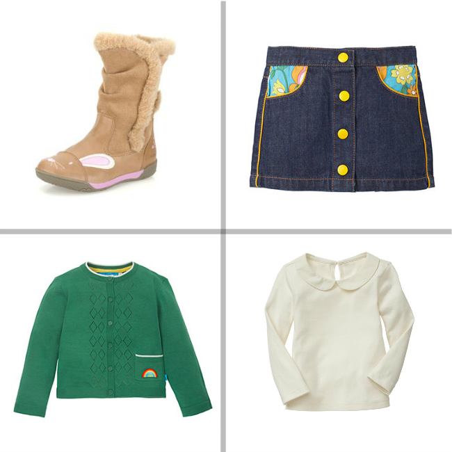 Cute winter outfit for girls - Clarks boots