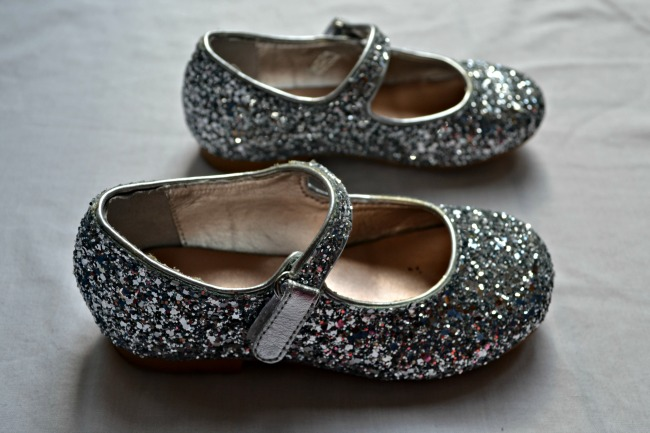 Gorgeous sparkly girls' shoes from Marks and Spencer