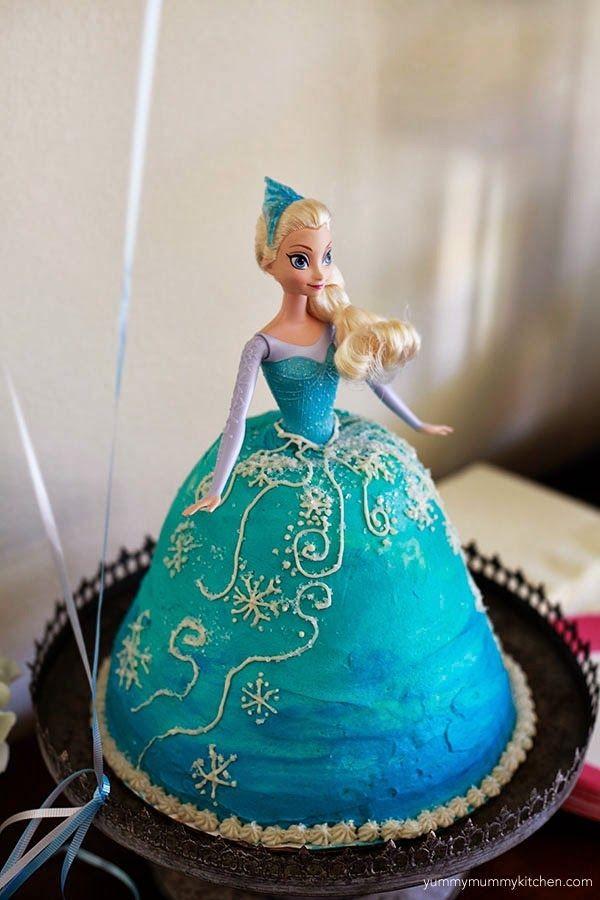 Elsa doll cake by Yummy Mummy Kitchen