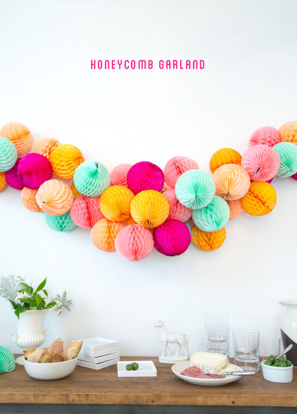 honeycomb balls garland from Oh Happy day