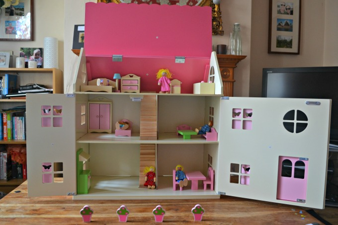 Pink Dolls House Furniture. George At Asda Wooden Dolls House Pink Furniture