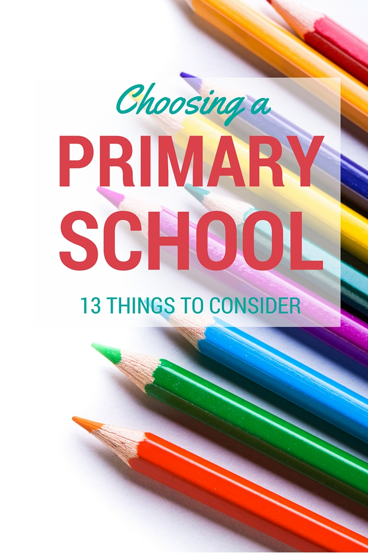 13 things to consider when choosing a primary school