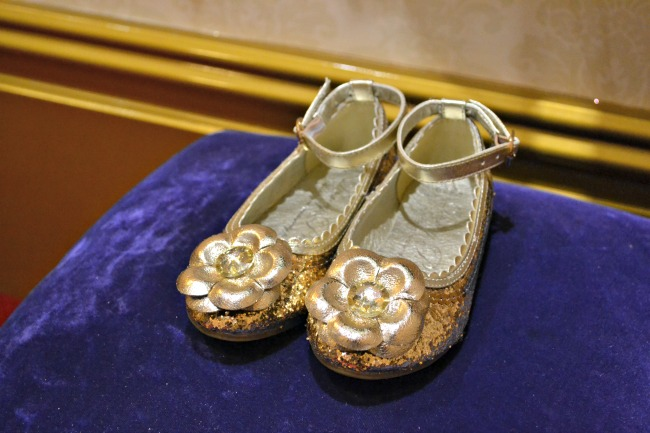 Golden princess shoes