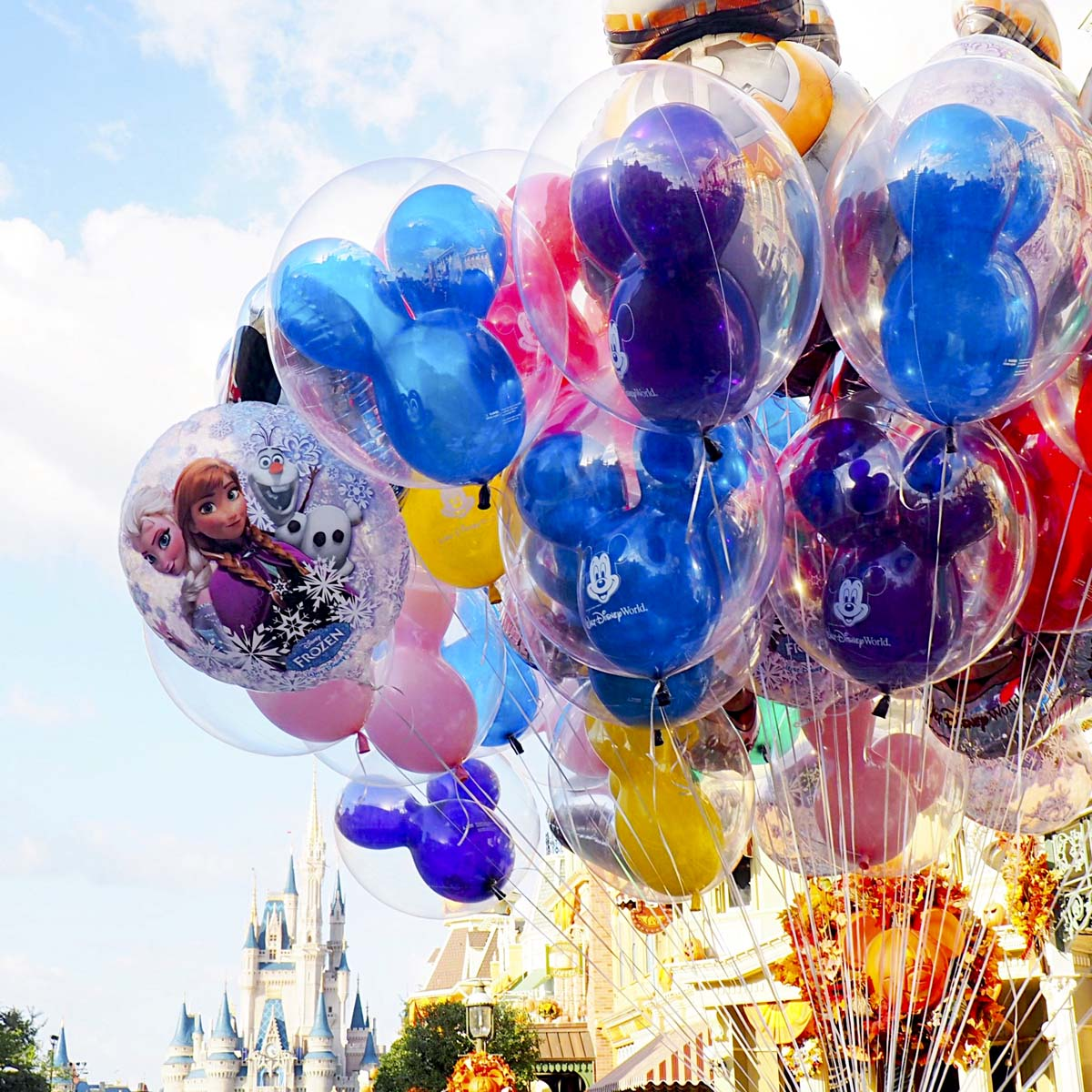 Disney balloons Magic Kingdom